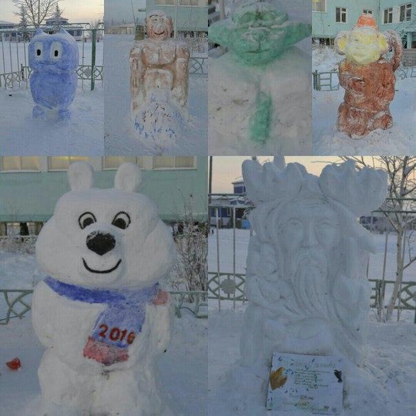 снежные фигурки
