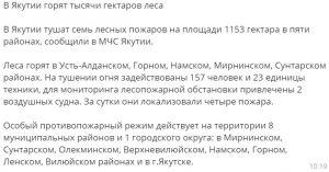 """Пересылаемое сообщение о """"тысячах гектаров"""""""